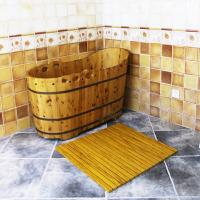 Wholesale Customized WPC Wood Shower Floor WPC Bathroom Decking 60cm x 40cm from china suppliers