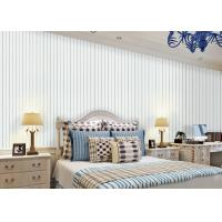 Wholesale White And Blue Striped Wallpaper Interior Room Wallpaper Strippable for Living Room from china suppliers