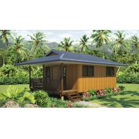 Wholesale Light Steel Frame wooden design,earthquake proof cyclone proof, Fiji style prefab Bungalow from china suppliers