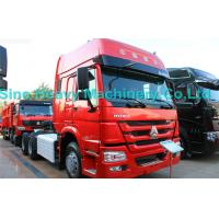 Wholesale SINOTRUK Howo 6X4 Prime Mover Truck 371HP , Red Unloading Trucks , Color Can Be Selected from china suppliers