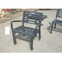 Wholesale Vintage Iron Metal Garden Chairs , Galvanized Gray Garden Bench from china suppliers