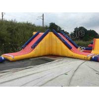 Quality 0.9mm PVC Tarpaulin Huge Inflatable Water Parks 40m Diameter With Red / Blue Colour for sale