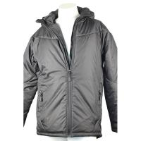 China Durable Grey Light Padded Jacket Toasty Warm With Hot Transfer Printing for sale