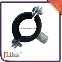 Wholesale CEPDM Rubber Pad And Steel Zinc Plated Cast Iron Pipe Pipe Ring Clamp Rubber Line Clamp from china suppliers