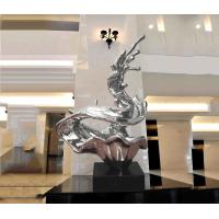 Wholesale Customized Abstract Metal Sculpture , Modern Public Art Sculpture For Decoration from china suppliers