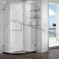 Wholesale Tempered Glass Shower Enclosure with Shelf Hinge Door from china suppliers