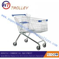 Wholesale Lightweight Steel Wire Supermarket Shopping Trolleys Four Wheeled Asian Style from china suppliers