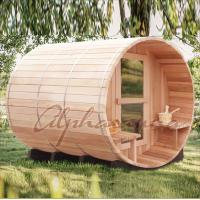 Wholesale Outdoor Used Red Cedar Wood Fired Barrel Sauna Room 38mm Thickness from china suppliers