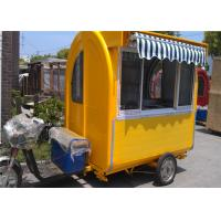 Buy cheap Strong Steel Tricycle Food Cart , Fast Food Mobile Catering Cart from wholesalers