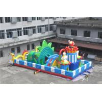 Wholesale Kids Inflatable Bouncy Castle With Printing Logo / Backyard Obstacle Course from china suppliers
