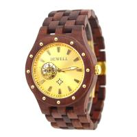 Wholesale Golden Dial Luxury Automatic Wooden Mechanical Watches With Wooden Band from china suppliers
