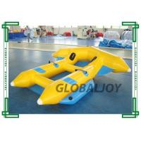 Quality 0.9mm Inflatable Flying Fish Boat 4 Persons Towable Boat For Water Game for sale