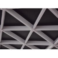 Wholesale Triangle Suspended Metal Ceiling Drop Sound Absorbing Grid / Grille from china suppliers