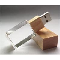 Wholesale 2G - 64GB Crystal USB Flash Drive 2.0 Memory Stick Customized Logo from china suppliers