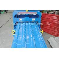 Wholesale 0.3-0.8mm Thickness Panel Roof Glazed Tile Roll Forming Machine With 16 Forming Station from china suppliers