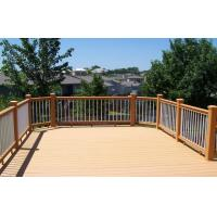 Wholesale Environmental Light Yellow WPC Garden Fence , WPC Outdoor Railing Board from china suppliers