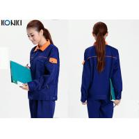Wholesale Cool Mechanic Uniform Shirts With Long Jacket And Dark Blue Pants from china suppliers