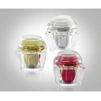 Wholesale 200g Trapezium Transparent Acrylic Cream Jars Acrylic Bottles Package With Flat & Dome Cap from china suppliers