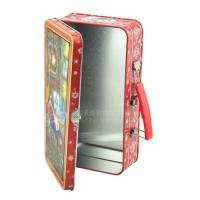 Quality Portable Christmas gift hinged colorful metal box gift tin boxes for puzzle for sale