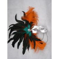 Wholesale Halloween Mluti Color Masquerade Mardi Gras Carnival Feather Party Half Face Mask from china suppliers