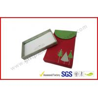 Quality Red Christmas Gift Packaging Boxes Foldable / VIP Card Gift Packing for sale