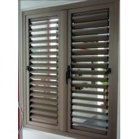 Aluminum louvered shutter window