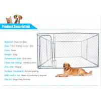 Wholesale Large outdoor metal chain link dog kennel temporary dog fence panels from china suppliers