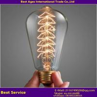 Wholesale Vintage Edison light bulb wholesale A19 E27 Antique decoration Filament Edison Bulbs Incandescent clear/golden vintage from china suppliers