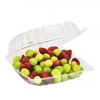 Wholesale Clear Square Hinged Plastic Clamshell Food Container Food Service Box Multi Compartment for Berries,Cherry, Pack of 100 from china suppliers