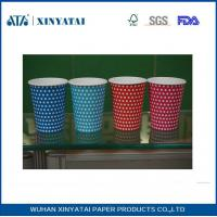 Flexo / Offset Printing PE Coated Single Wall Paper Cups for Coffee or Tea White Red Pink Multi Color