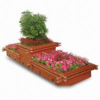 Wholesale 100% Eco-friendly WPC Flower Pot with Customized Sizes, Rust/Crackproof, Low Maintenance Cost from china suppliers