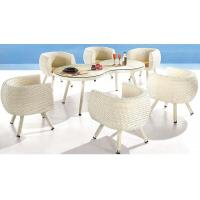 Wholesale synthetic rattan furniture, outdoor chair, garden table, glass table, #1211 from china suppliers