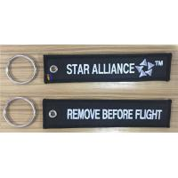 Wholesale Star Alliance FF Remove Before Flight Embroidery Fabric Key Chain Aviation Tags from china suppliers