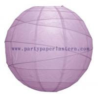 Wholesale Round Lilac Purple Paper Lantern , 8 Inch Rice Paper Lantern For Weddings from china suppliers