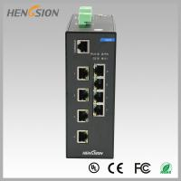 Wholesale RJ45 8 port industrial gigabit ethernet switch , Fast switching speed switch from china suppliers