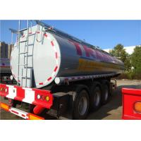 Quality Stainless Steel Fuel Tanker Semi Trailer  Tri-Axle 33000L 33M3 Oil Transport Tank Semitrailer for sale
