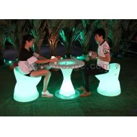 Wholesale PE Plastic Waterproof Outdoor Chairs And Stools Led Glowing Furniture from china suppliers