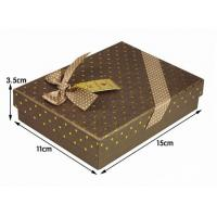 Wholesale Luxury Brown Jewelry Duplex Board Paper Gift Boxes With Lids from china suppliers