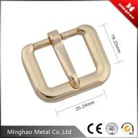 20.24*16.23mm Zinc alloy metal pin roller buckle,light gold pin buckle for bag