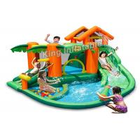 Wholesale PVC Tarpaulin Tropical play center, jump castle, water slides for kids in summer from china suppliers