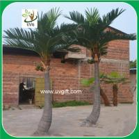 China UVG PTR02 indoor and outside artificial silk palm trees for shopping mall landscaping on sale