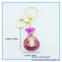 Wholesale Fashion handmade vase shape metal key chain from china suppliers