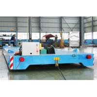 Quality Heavy Duty Rail Flat Electric Transfer Cart 12 Ton Capacity 4mx1.8m Table for sale