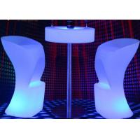 Wholesale Rechargeable Led Glow Furniture Muti Colors Changing Bright Lighted Bar Tables from china suppliers