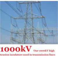 Wholesale 1000kV High Tension Insulators , Anti - Pollution Grey High Voltage Insulator from china suppliers
