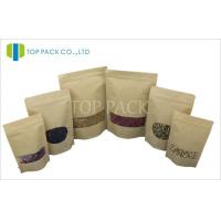 Wholesale Kraft Paper Stand Up Pouch With Window from china suppliers