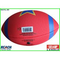 Wholesale Professional Rubber Red American Football Balls / Inflatable Rugby Ball Size 3 from china suppliers