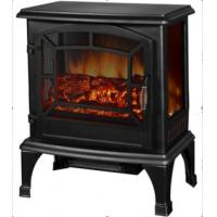 Wholesale 3 Sided Freestanding Electric Fireplace  SF-25A real burning log LED flame living room heater from china suppliers