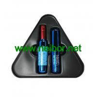 Quality triangle shape gift tin box with plastic tray for lipstick packaging for sale