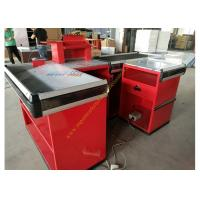 Wholesale Supermarket Design Retail Cash Register Table / Cashier Desk With Conveyor Belt from china suppliers